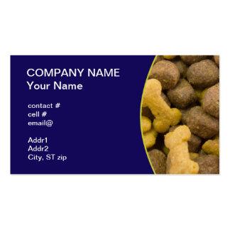 dogfood closeup pack of standard business cards