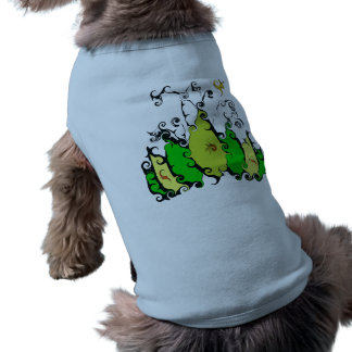 Doggee Ribbed Tank Top with Leafy Design Sleeveless Dog Shirt