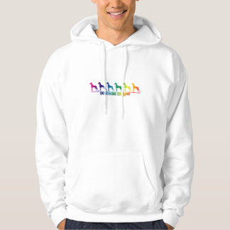 Doggen rainbow hoodie