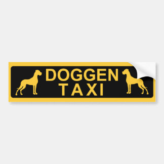 Doggen taxi bumper sticker