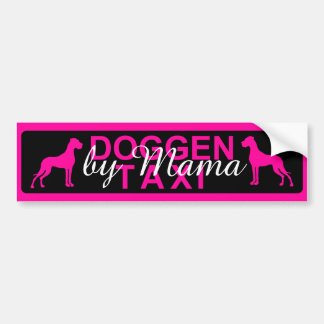 Doggen taxi specially bumper sticker