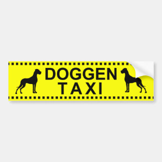 DoggenTaxi Bumper Sticker