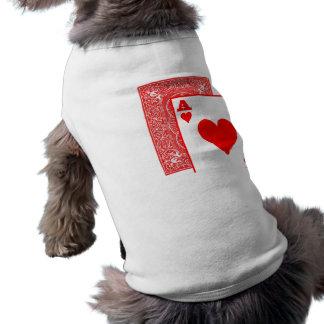 doggie card sleeveless dog shirt
