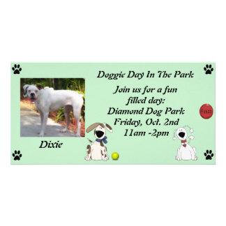 Doggie Date Invitations Personalized Photo Card