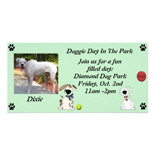Doggie Date Invitations Photo Cards