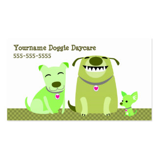 Doggie Daycare/Dog Walker Double-Sided Standard Business Cards (Pack Of 100)