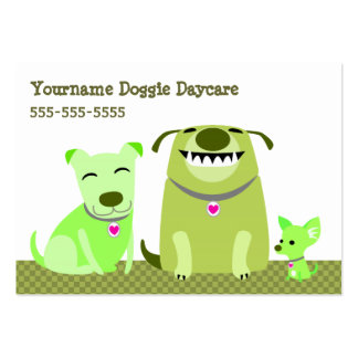 Doggie Daycare/Dog Walker Pack Of Chubby Business Cards