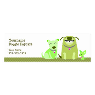 Doggie Daycare Green Dogs Pack Of Skinny Business Cards