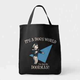Doggie Doorman Tote Bags