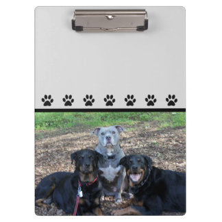Doggie Family Picture Clipboard
