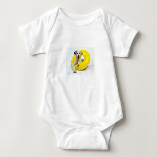 **DOGGIE IN INNERTUBE** BABY CLOTHING BABY BODYSUIT