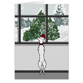 Doggie in the Christmas Window Card