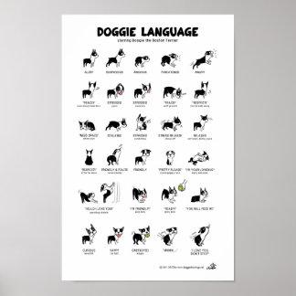 "DOGGIE LANGUAGE Large Poster *NEW!* 23"" x 35"""