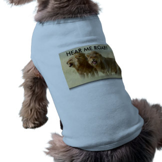 Doggie Ribbed Tank Top - HEAR ME ROAR! Sleeveless Dog Shirt