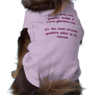 Doggie Ribbed Tank Top, Lilac. Dog T Shirt