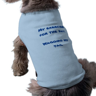 DOGGIE RIBBED TANK TOP - MY EXERCISE FOR THE DAY SLEEVELESS DOG SHIRT