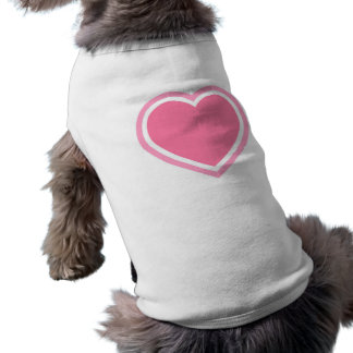 Doggie Ribbed Tank Top/Pink Heart Sleeveless Dog Shirt