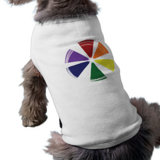 Doggie Ribbed Tank Top PRIDE COLOR WHEEL Sleeveless Dog Shirt
