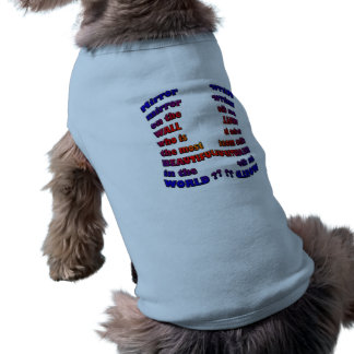 Doggie Ribbed Tank Top-WHO IS THE MOST BEAUTIFUL? Sleeveless Dog Shirt