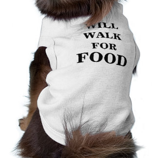 """Doggie Ribbed Tank Top """"Will Walk For Food"""""""