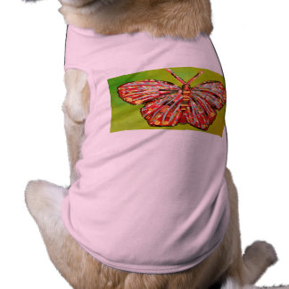 Doggie Ribbed Tank Top with Butterfly Design Pet Tee