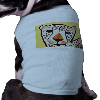 Doggie Ribbed Tank Top with Tiger Design Dog Clothes