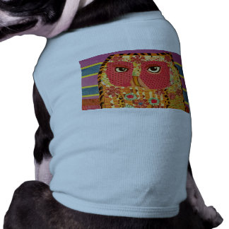 Doggie Ribbed Tank Top with Wise Owl Design Dog Clothes