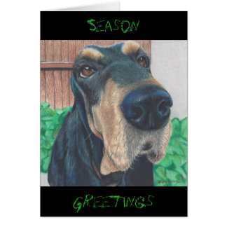 doggie Season Greeting card