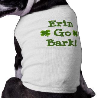 Doggie St. Patrick's Shirt sizes XS to 3X Sleeveless Dog Shirt