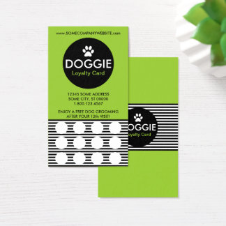DOGGIE stripe stamp card