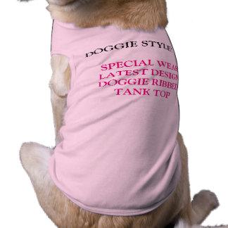 Doggie style ribbed tank top sleeveless dog shirt