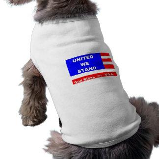 Doggie Sweater Jacket - God Bless the U.S.A. Sleeveless Dog Shirt