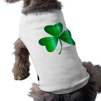 Doggie Sweater wtih Shamrock! Sleeveless Dog Shirt
