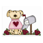 Doggie Valentine's Day Tshirts and Gifts Postcard