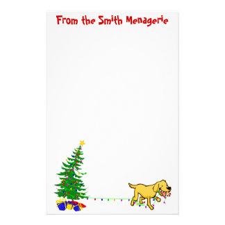 Doggone Christmas | Christmas Letterhead Stationery Paper