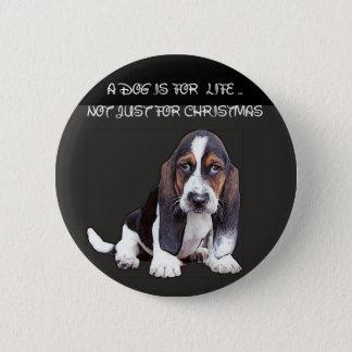 doggy 6 cm round badge