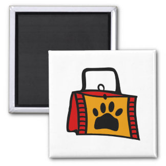 Doggy Bag With Funky Purse Square Magnet