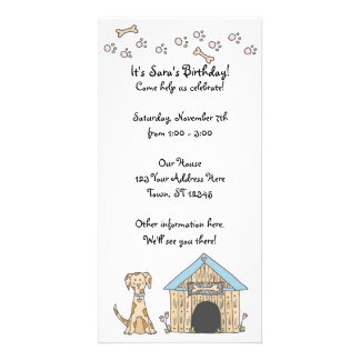Doggy Birthday Invitation Personalized Photo Card