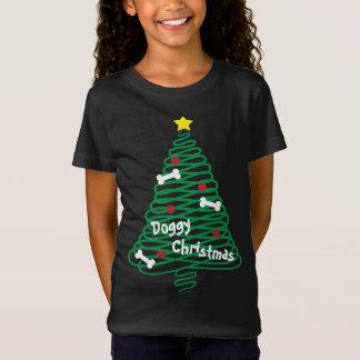 Doggy Christmas Scribble Tree T-Shirt