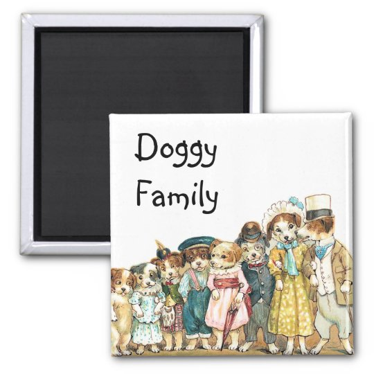 Doggy Family Magnet
