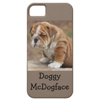 Doggy McDogface English Bulldog Case For The iPhone 5