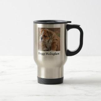 Doggy McDogface English Bulldog Travel Mug