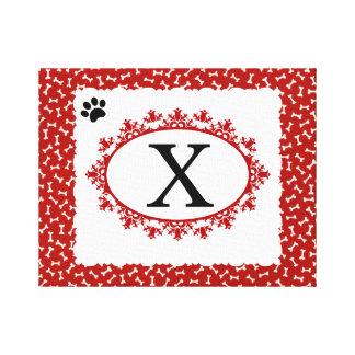 Doggy Monogram X Canvas Print
