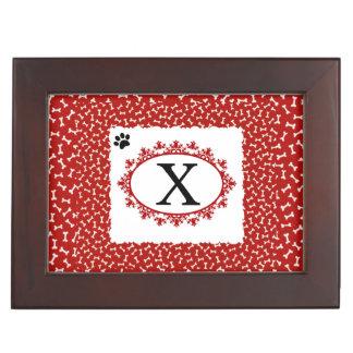Doggy Monogram X Keepsake Box