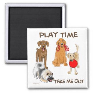 Doggy Play Time Magnet