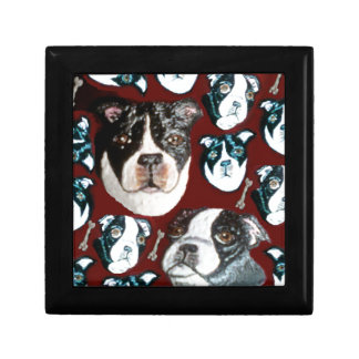 doggy small square gift box
