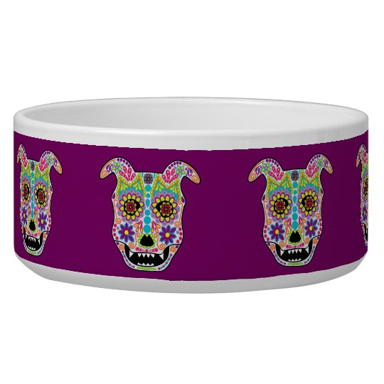 Doggy sugar skull bowl