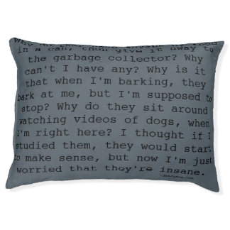 Doggy Thoughts Gray Pet Bed