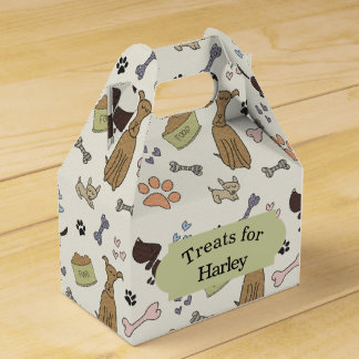 Doggy Treats Favor Box