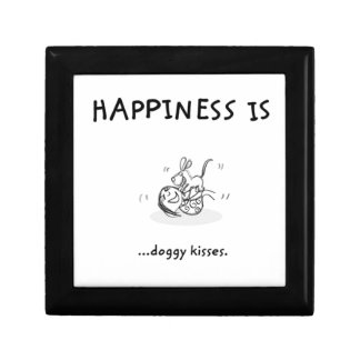 doggykisses small square gift box